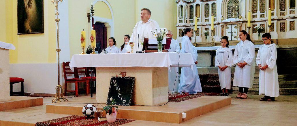 Hálaadó szentmise a katolikus templomban 2018.