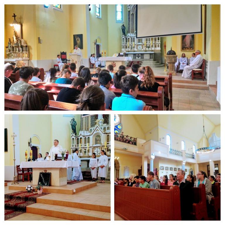 Hálaadó szentmise a katolikus templomban 2018