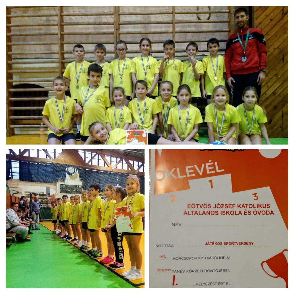 Játékos Sportvetélkedő Diákolimpia városi-körzeti döntő