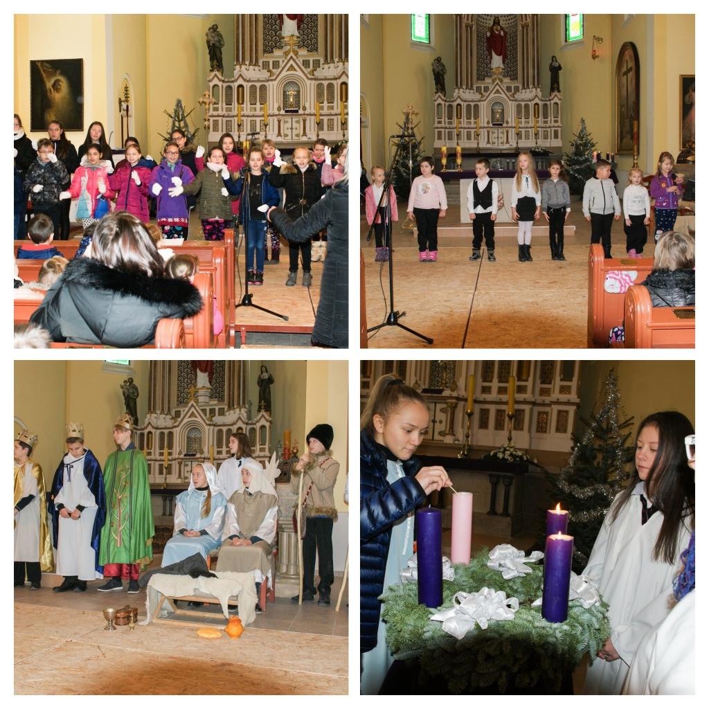 Karácsonyi műsor a katolikus templomban