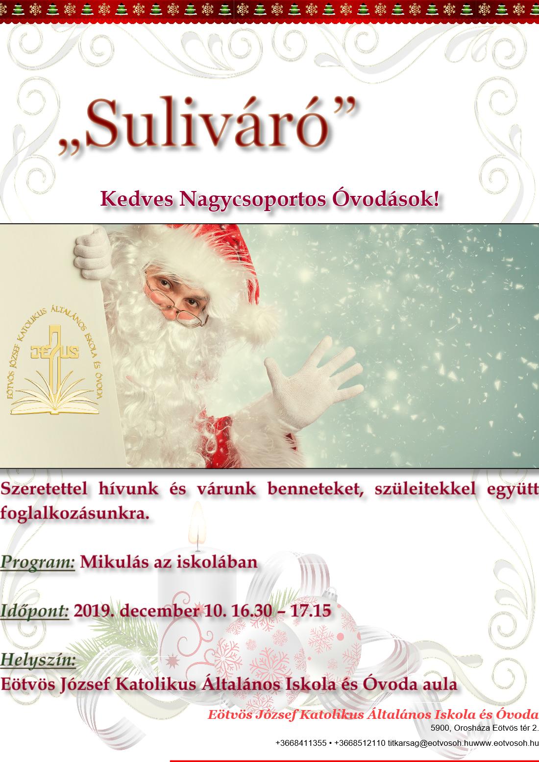 Suliváró 2019.12.10. Plakát