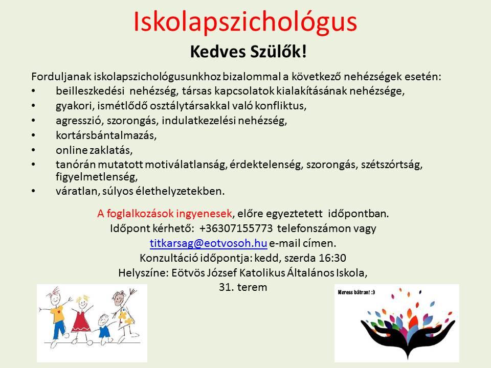 Iskolapszichológus