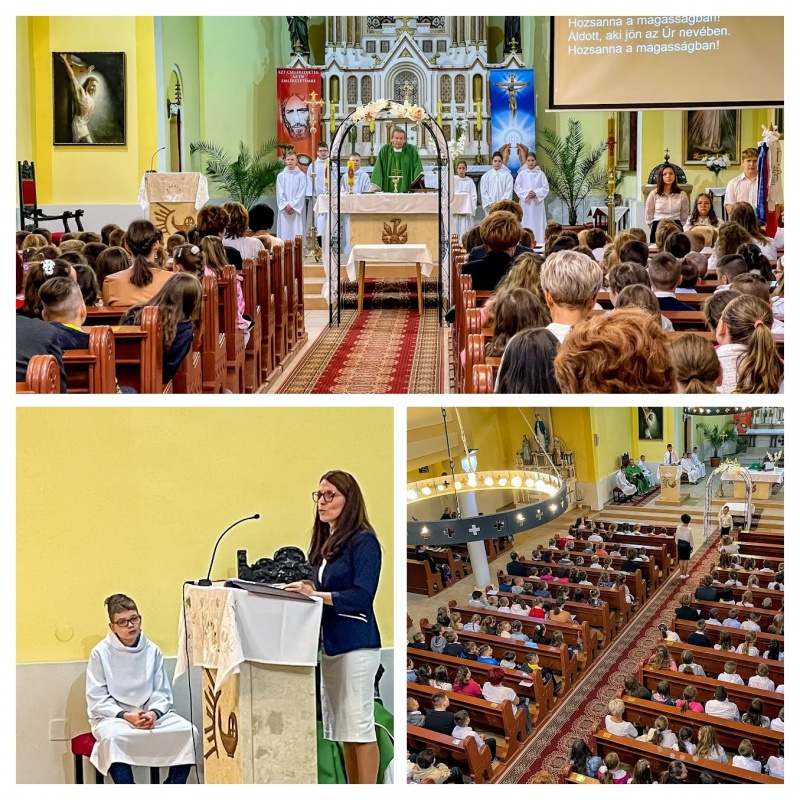 Tanévnyitó a katolikus templomban